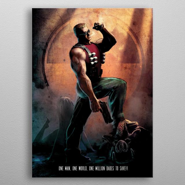 The Duke metal poster