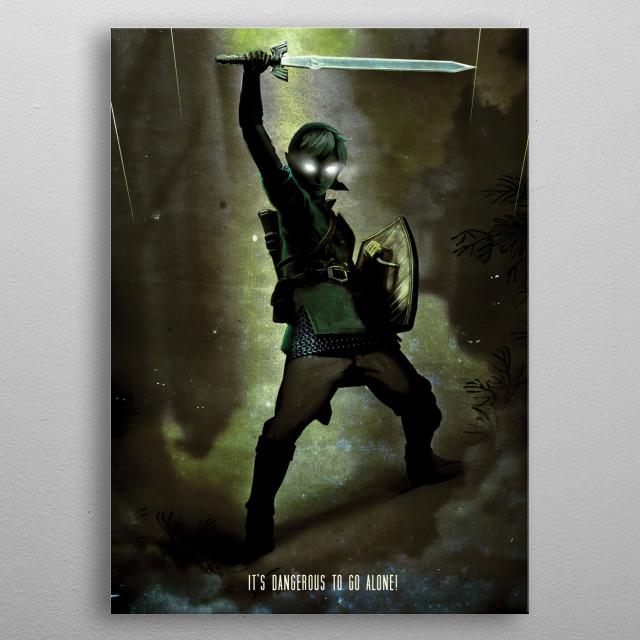 Dark Link metal poster