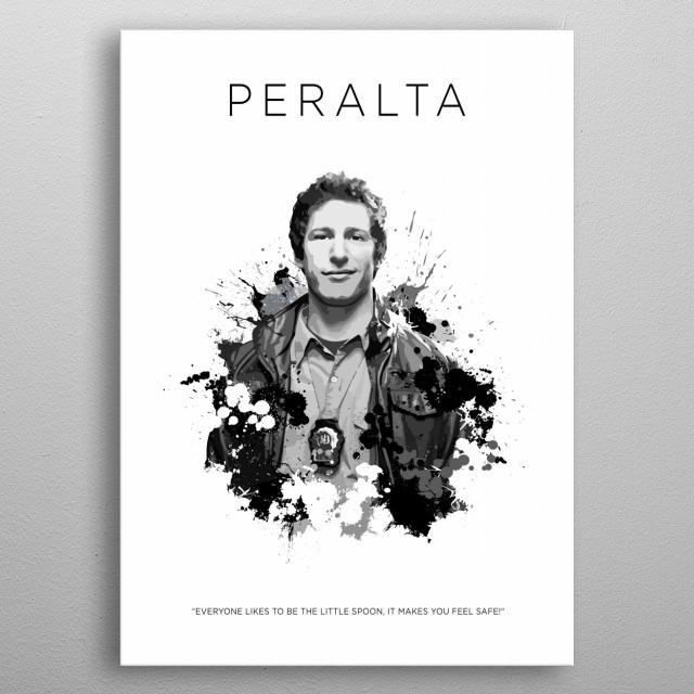 Detective Jake Peralta metal poster