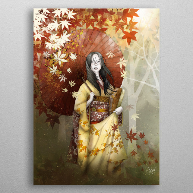 Bringing home a hint of autumn metal poster