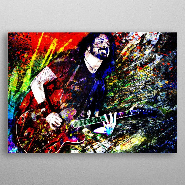 WHAT IF I SAY I'M NOT LIKE THE OTHERS?! I created this piece with a mixed-medium process to reflect the style of his music. metal poster