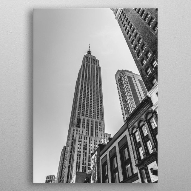Empire State of Mind 1 metal poster