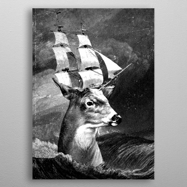 High-quality metal print from amazing Dinomike Art Prints collection will bring unique style to your space and will show off your personality. metal poster