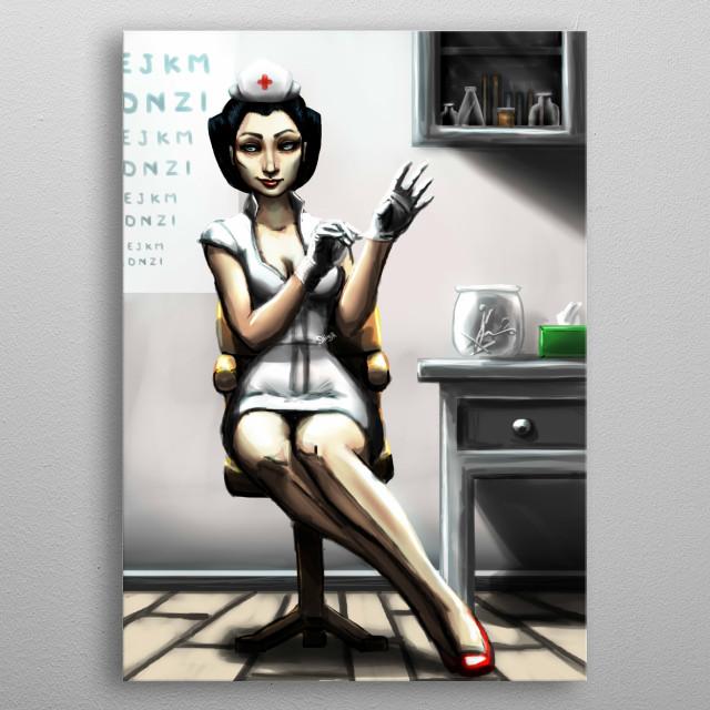 Pin Up Nurse metal poster