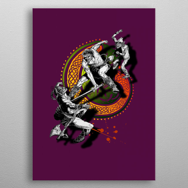 Fascinating metal poster designed by Alan Hogan. Displate has a unique signature and hologram on the back to add authenticity to each design. metal poster
