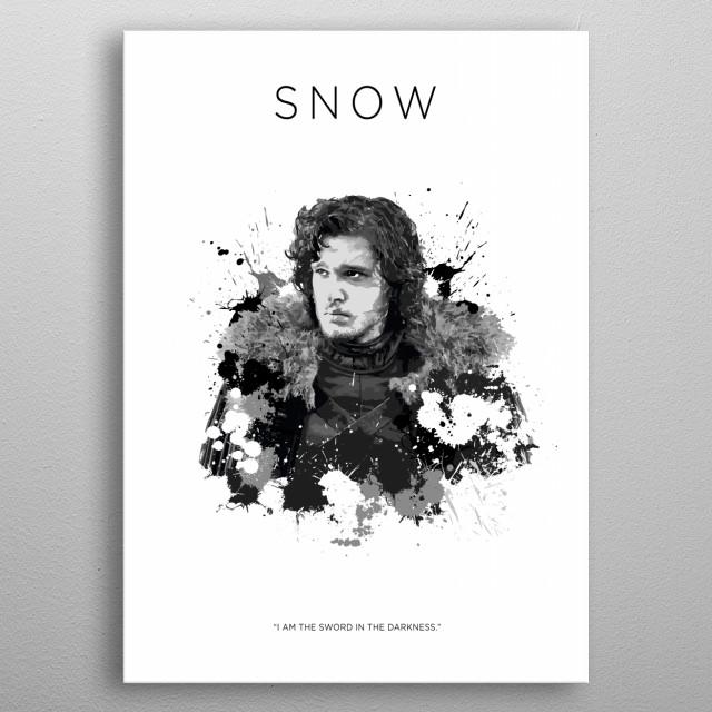 Jon Snow metal poster
