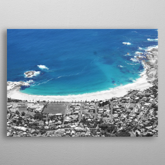 Cape coastline metal poster