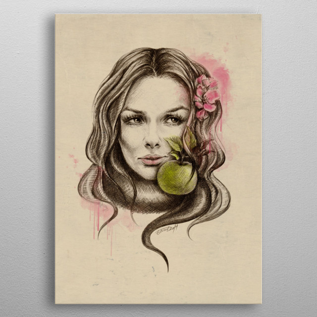 Would you choose it again?   Pencil sketch with digital color and texture metal poster