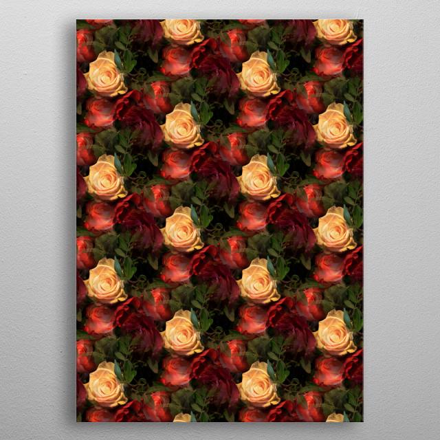 Rose Garden metal poster