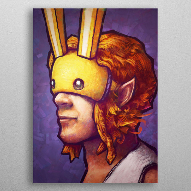 The Bunny Hood by Ronan Lynam metal poster
