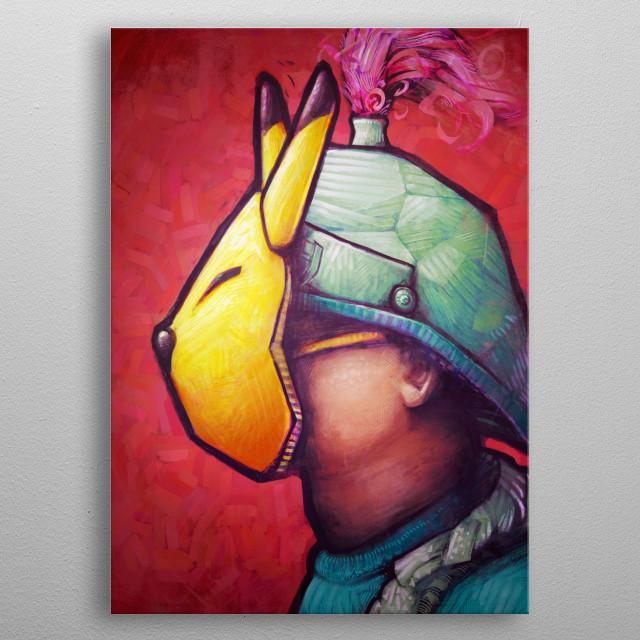 The Keaton Mask by Ronan Lynam metal poster