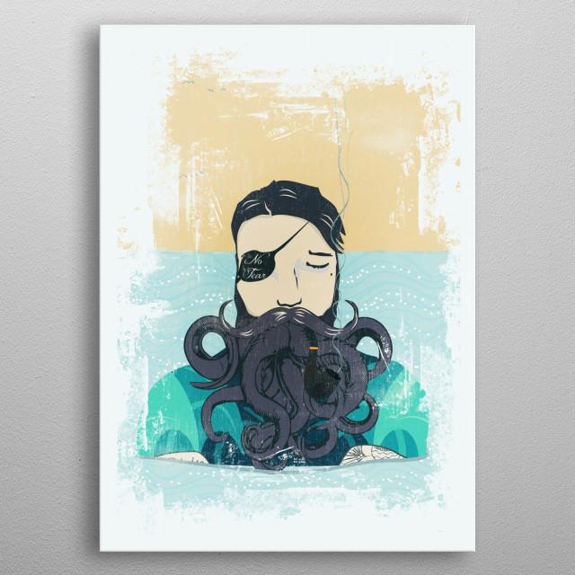 Octopus metal poster