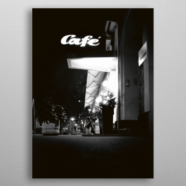 CAFE metal poster