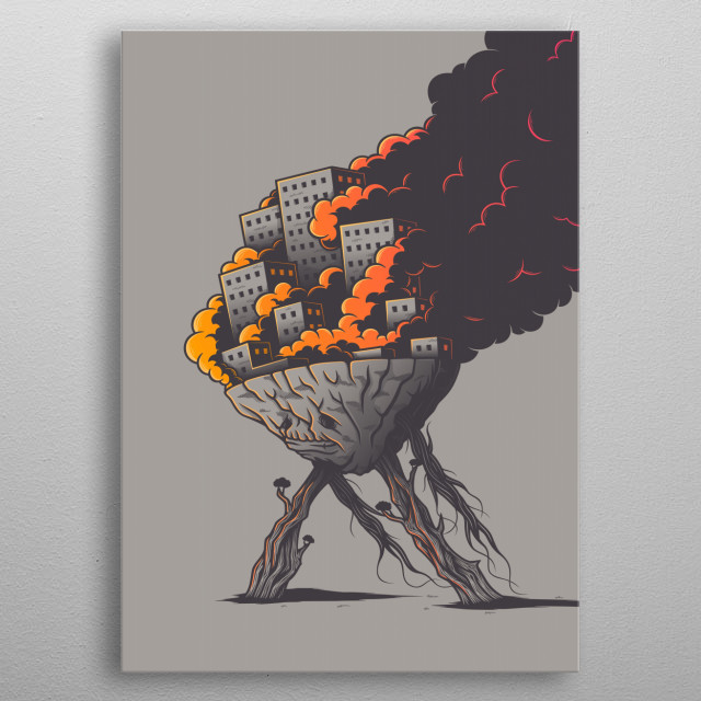 Fascinating metal poster designed by Elia Colombo. Displate has a unique signature and hologram on the back to add authenticity to each design. metal poster