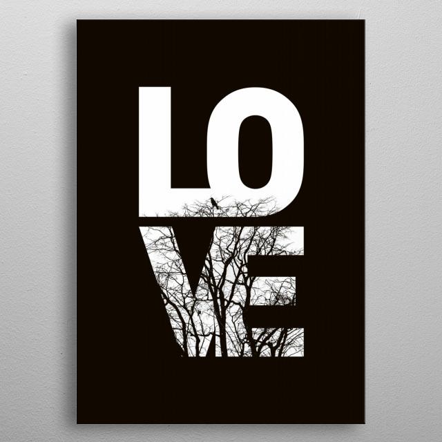 LOVE NO2 metal poster