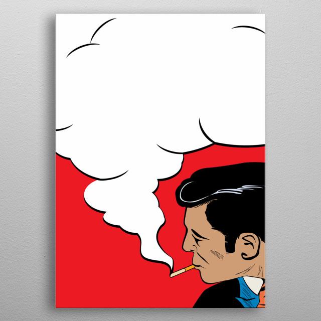 The Smoker metal poster
