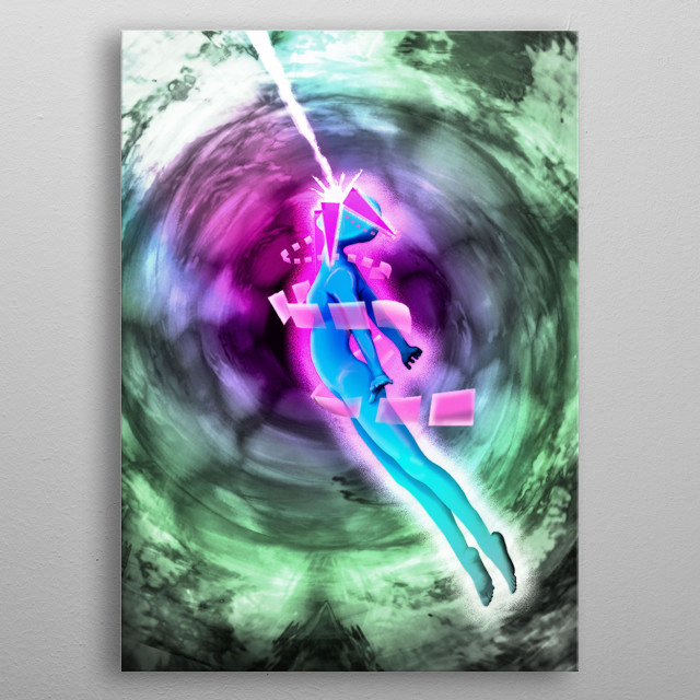 Photoshop creation done by Nicholas Dinges. Sketched out, then colored in, with a bit of fun glow and gradient mix. metal poster