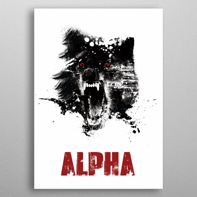 Alpha life is an everyday choice.  Let this stare you dead in the face each morning as you decide how you will meet the day. metal poster