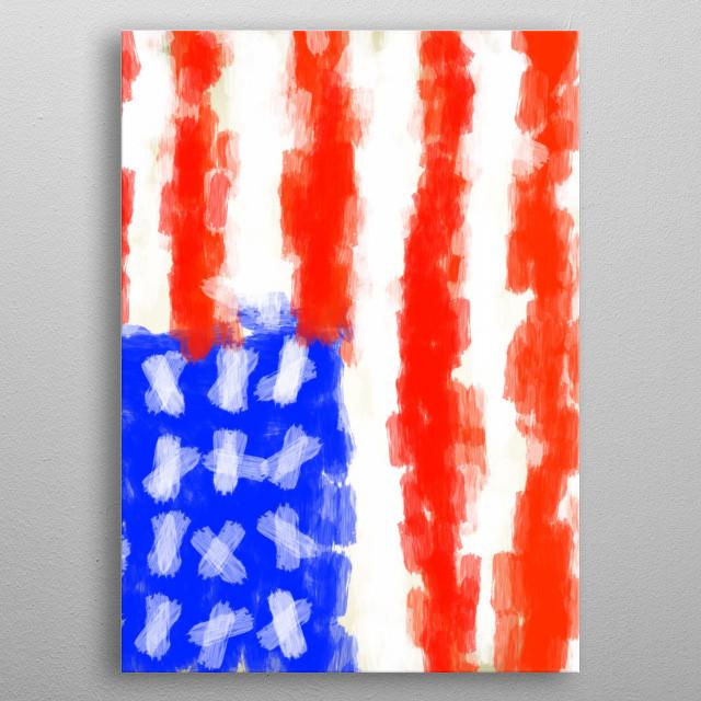 American Flag metal poster