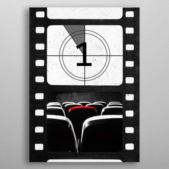 The Movie Experience: Theater countdown metal poster