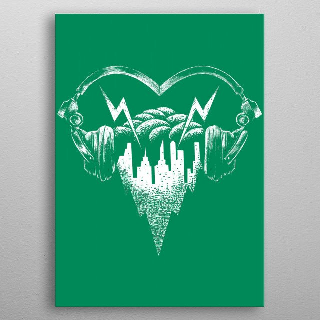 Fascinating metal poster designed by Tofan barmalisi. Displate has a unique signature and hologram on the back to add authenticity to each design. metal poster