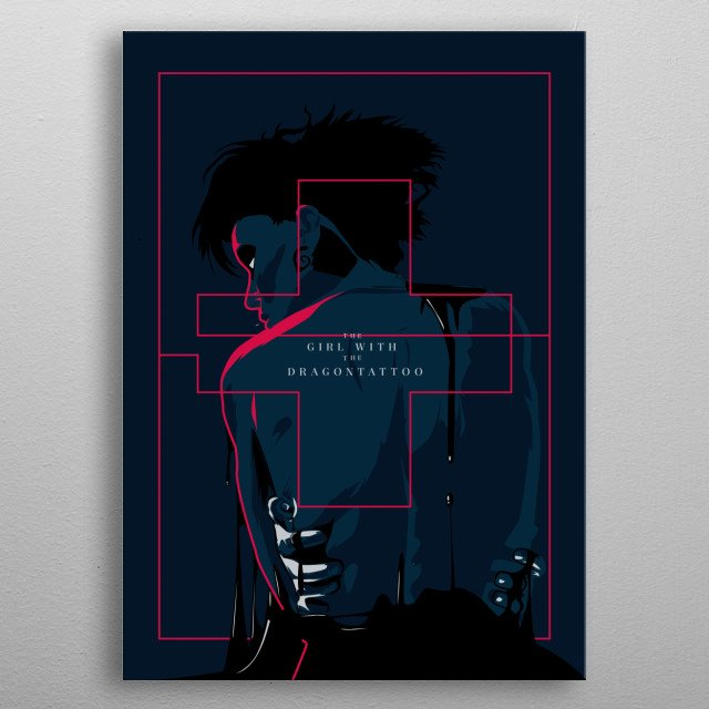 The girl with dragon tattoo - Alternative movie poster metal poster