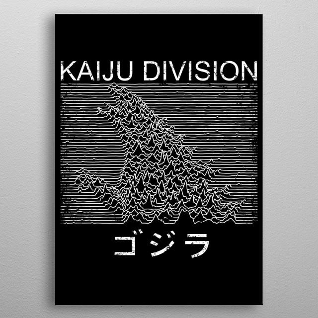 Kaiju Division metal poster