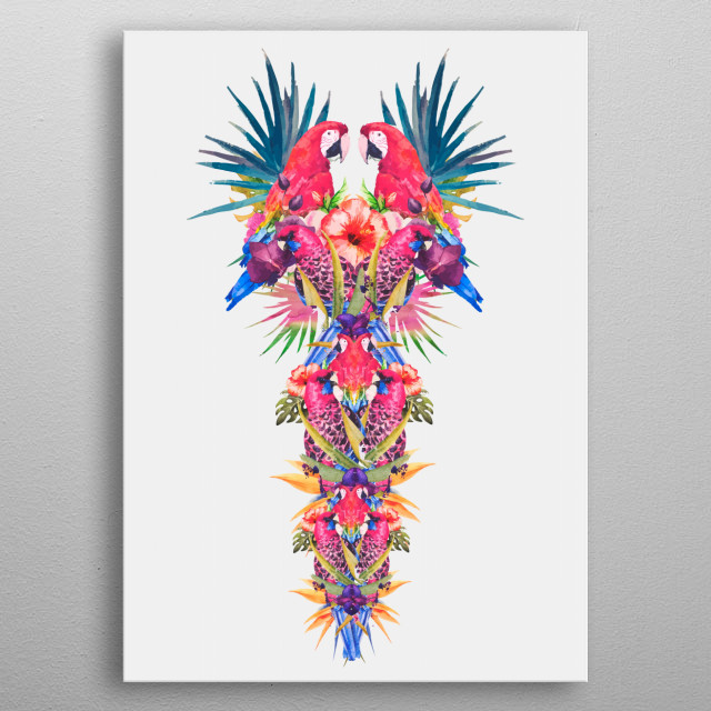 Parrot Kingdom metal poster