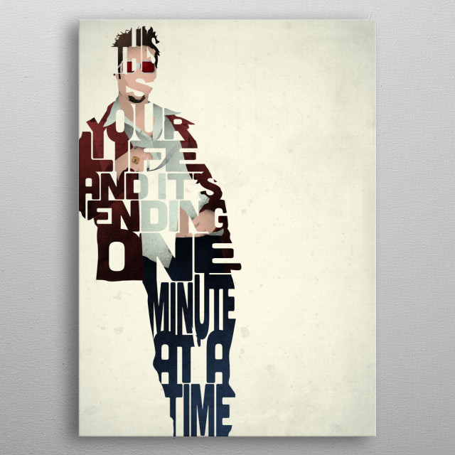 Tyler Durden - Fight Club. metal poster