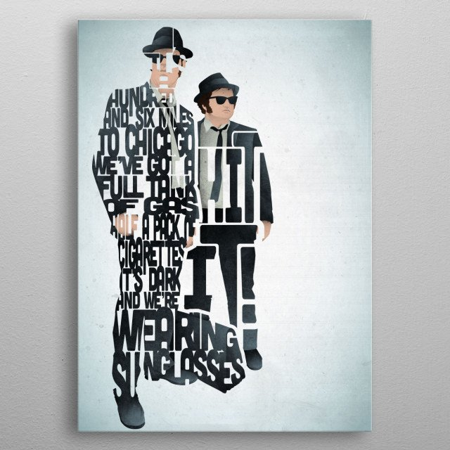Jake and Elwood - The Blues Brothers. metal poster