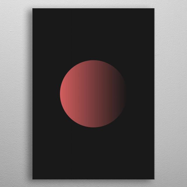 Circling metal poster