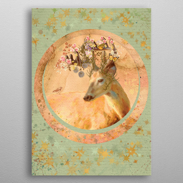 Forest Spirit Collage metal poster