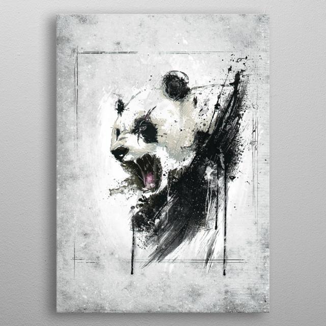 Angry Panda metal poster