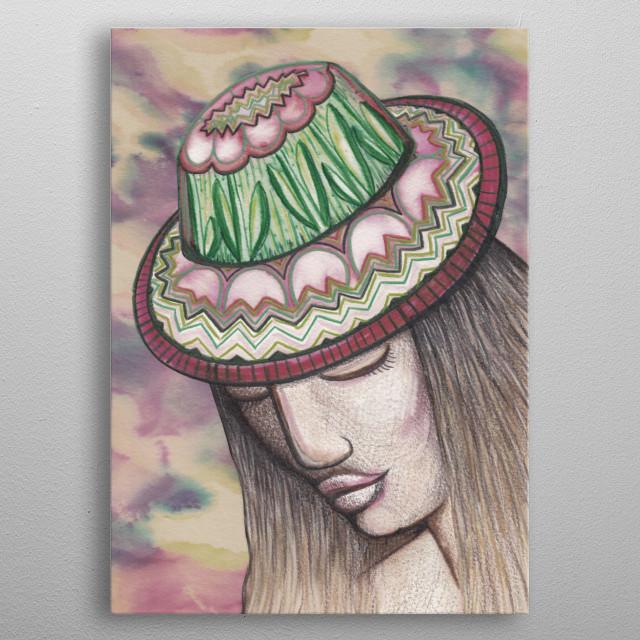 Tulip Hat metal poster