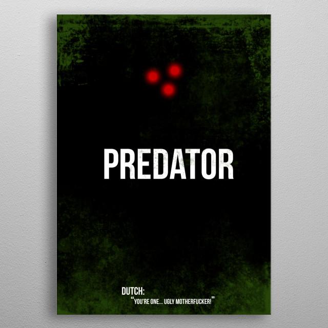 Predator - minimal movie poster metal poster