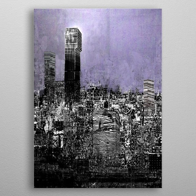 Manchester Exploding metal poster