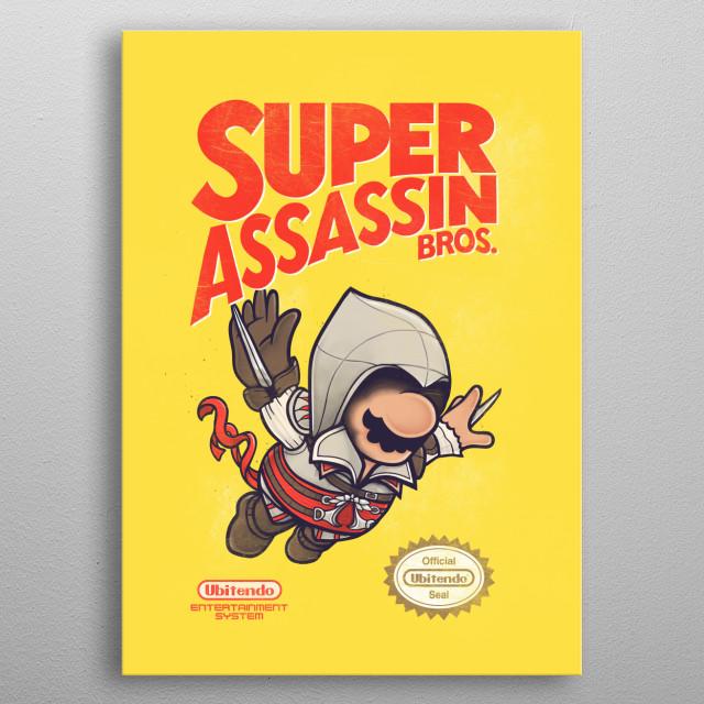 Super Assassin Bros metal poster
