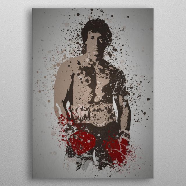 Italian Stallion Splatter effect artwork inspired by Rocky metal poster