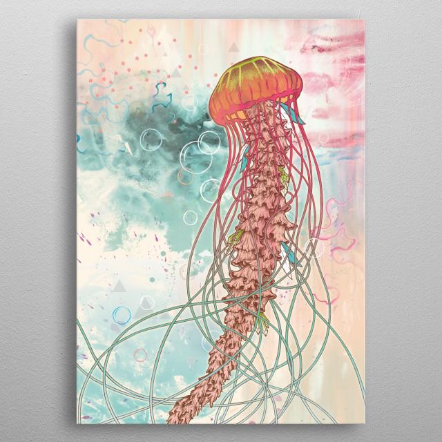 Jellyfish metal poster
