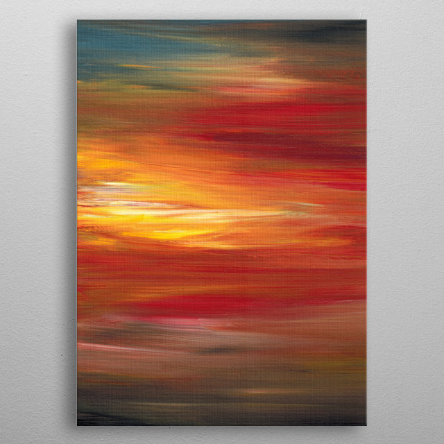 Color Intoxication 1 metal poster