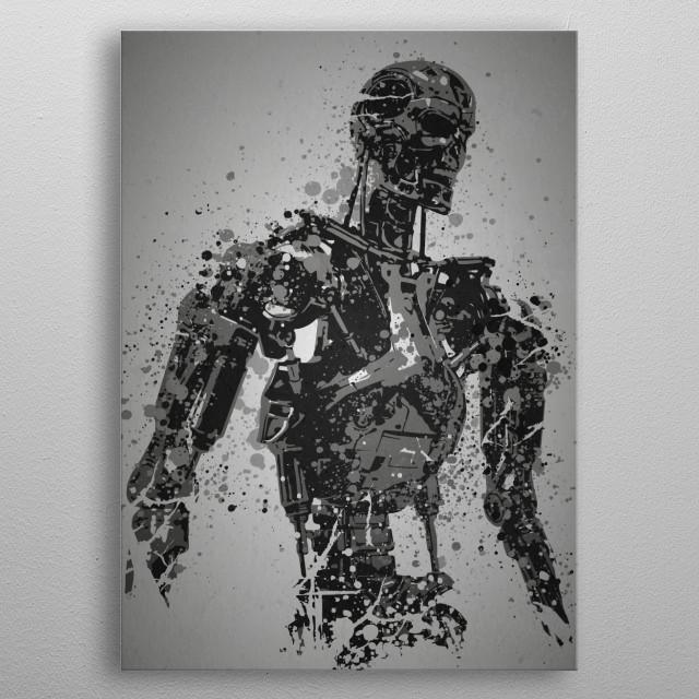Machine Splatter effect artwork inspired by Terminato .... metal poster