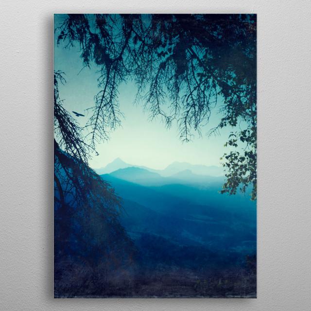 blue morning metal poster