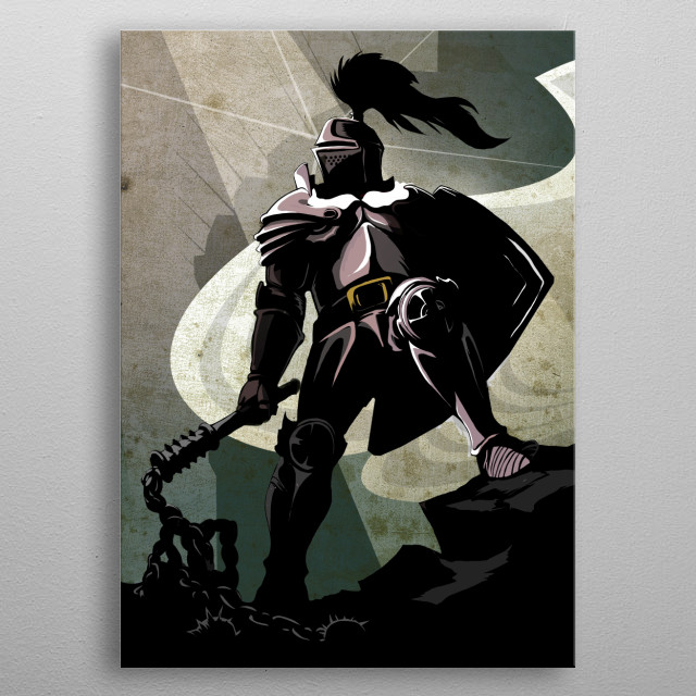 The Knight metal poster