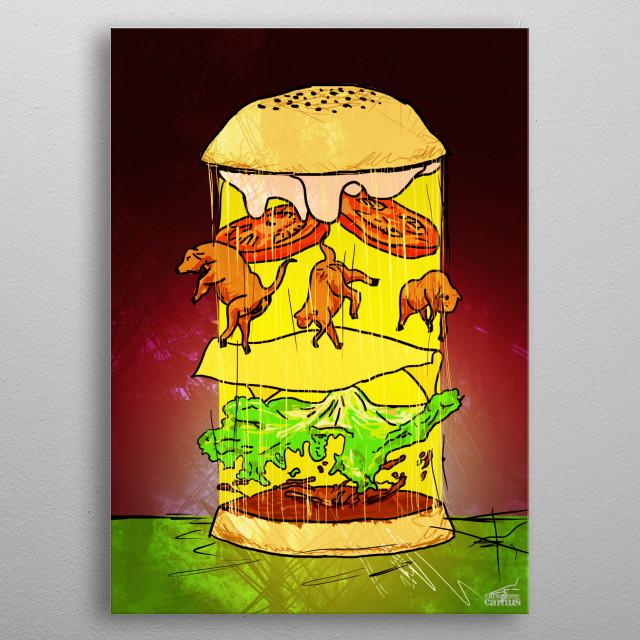 UFO Burger metal poster