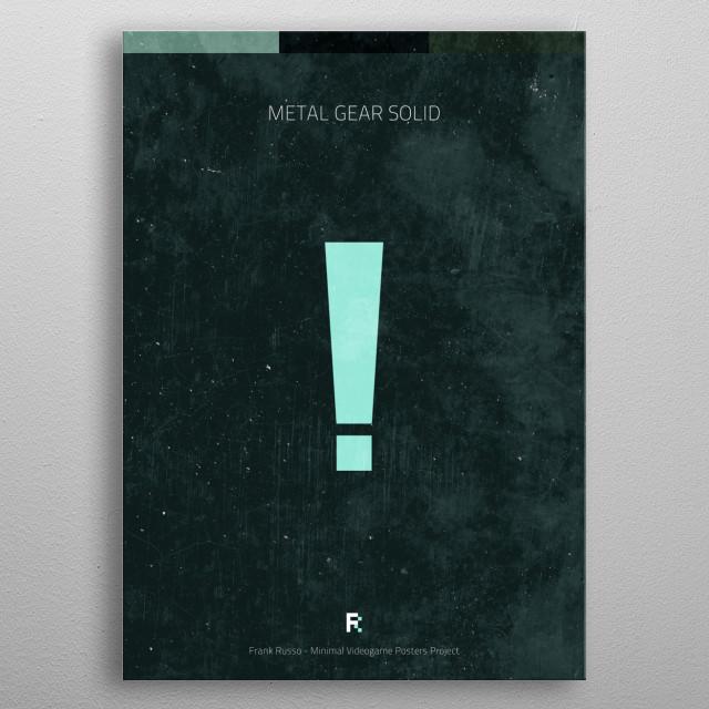 Metal Gear Solid 1. Minimal Videogame Poster. metal poster