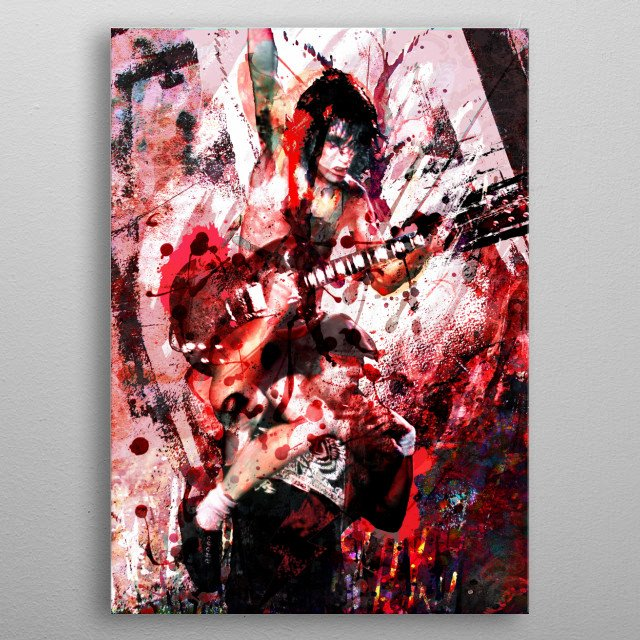 THUNDERSTRUCK!! I created this ACDC piece with a mixed-medium process, painted with various stroke styles to reflect the music. metal poster