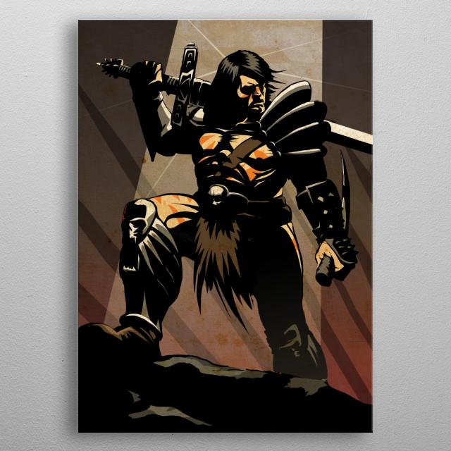 The Barbarian metal poster