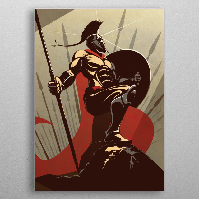 The Spartan metal poster