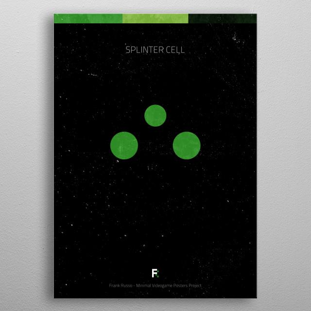 Splinter Cell. Minimal Videogame Poster. metal poster