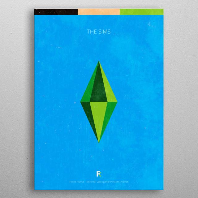 The Sims. Minimal Videogame Poster. metal poster